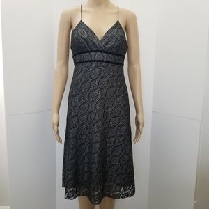 "Vintage Limited size ""0""charcoal lace dress"